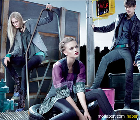 DKNY Jeans Tunik, Dar Kot Pantalon ve Deri Ceket