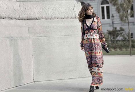 Mudo Collection'dan 2008 Sonbaharı için rengarenk desenli uzun elbise