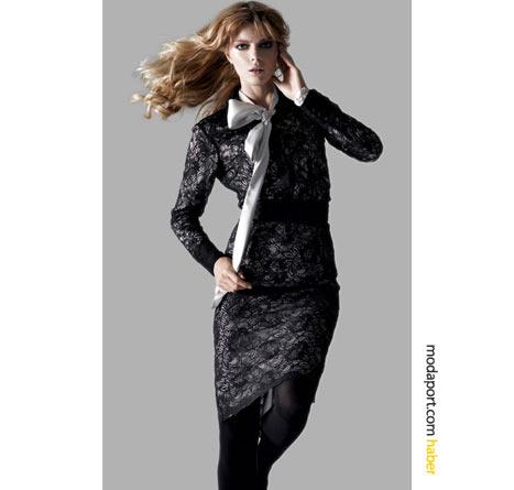 Fiyonkla süslenen dantelli elbise, Koton'un dantel modasına selamı