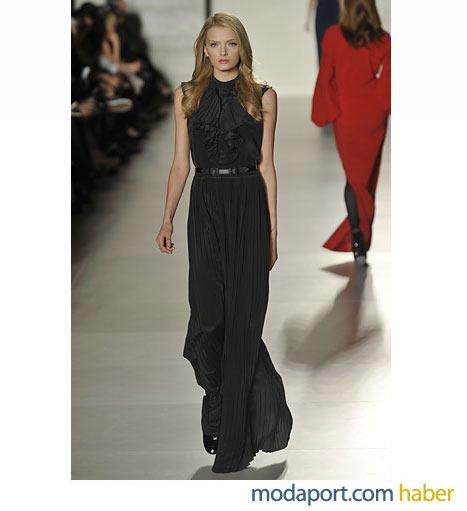 Tommy Hilfiger'dan kapalı yakalı zarif bie gece elbisesi modeli