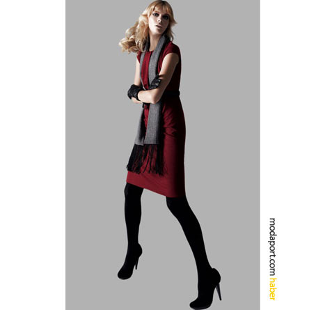 Kolları kısa olsa da, kışlık kumaştan bu kırmızı mini elbiseyle kendinizi ısıtabilirsiniz