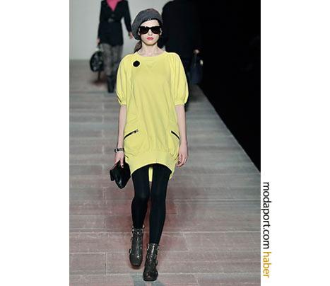 Marc by Marc Jacobs sarı tunik elbise