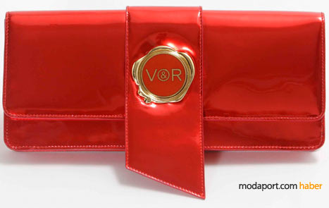 Viktor & Rolf kırmızı rugandan el çantası
