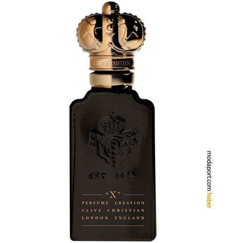 X'i en baştan çıkarıcı parfüm yapmaya kararlı olan Clive Christian, parfüme bu ismi, lüks egzotik içeriğe gönderme yapmak için seçmiş. X'in içeriğinde, şeftali, bergamut, mandalina, gül, yasemin, sedir, vanilya, muhabbet çiçeği, labdanum ve paçuli gibi farklı kokuların bileşimi bulunuyor.