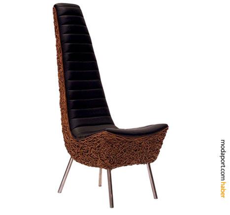Xylophone koltuk, özellikle modern tasarımlar ve rattan mobilyalarla çok iyi kombine olabilir.