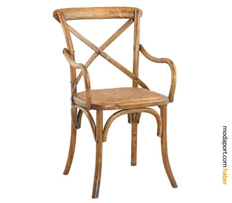 Nostaljik kolçaklı Mudo sandalye, huş ağacından