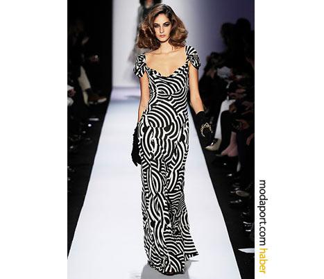 Diane von Furstenberg desenli gece elbisesi