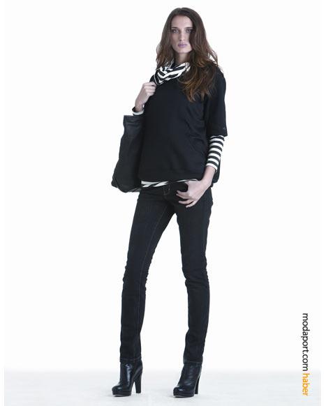 DKNY Jeans kış koleksiyonundan koyu renkli dar kot pantolon