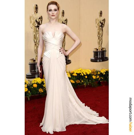 Evan Rachel Wood, Elie Saab Haute Couture straplez abiye elbisesi ve Neil Lane mücevherleriyle