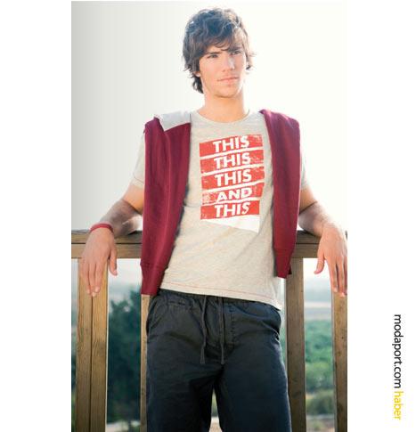 FTS64'ün 2009 yaz erkek koleksiyonunda retro desenli tişörtler çok çeşitli