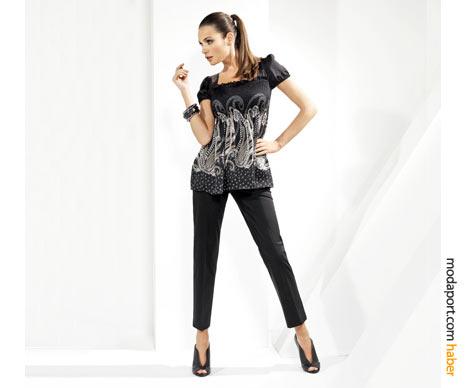 Bilekte biten siyah pantolon ve yüksek bilekli ayakkabılar, bu sezonun modası..