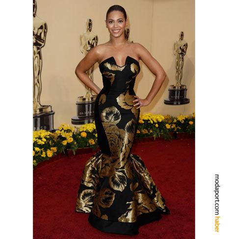 Beyoncé House of Deréon tasarımı abiye elbise ve Lorraine Schwartz mücevherlerle