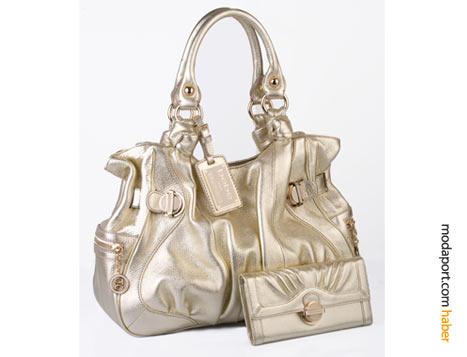 Lame çanta ve cüzdanı
