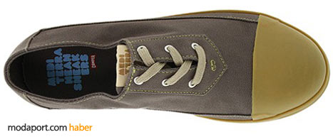 Vintage organik ayakkabı modelinde, kauçuk taban var