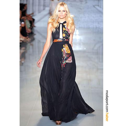 Gucci Resort 2009 koleksiyondan şifon gece elbisesi