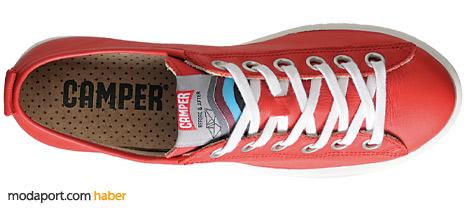 Camper'ın canlı kırmızı renkli ayakkabı modellerinden.. 195,30 TL