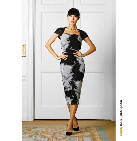 Victoria Beckham tasarımı diz altı elbise