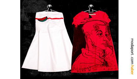 Moda tasarımcısı Ayşe Deniz Yeğin tasarımı etek ve bluz