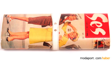 Özlem Ahıakın'dan Ses dergisi baskılı çanta tasarımı