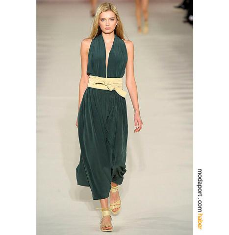 Chloe nefti elbise, 80'lerden bir yaz gecesinii çağrıştırıyor