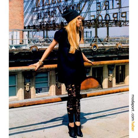 Lindsay Lohan'dan bir tayt stili