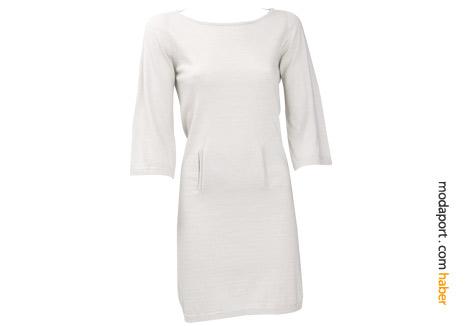 Kaşmir pamuk beyaz elbise