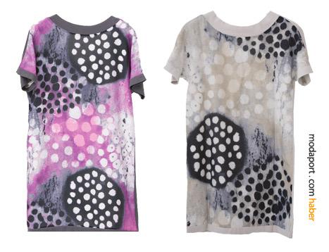 Esra Bezek bu elbiselerde puan modasına tablomsu bir yorum getirmiş..