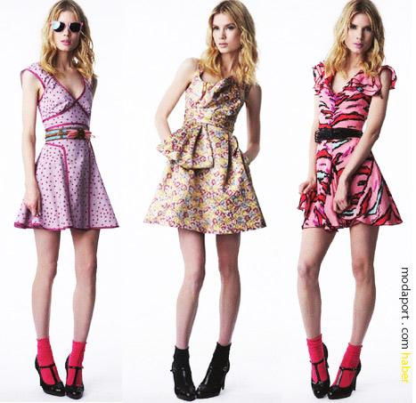 Zac Posen koleksiyonundan desenli yaz elbiseleri