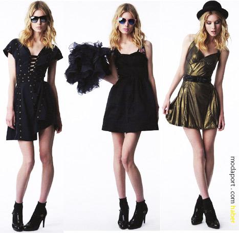 Zac Posen'in Target için ürettiği mini gece elbiseleri