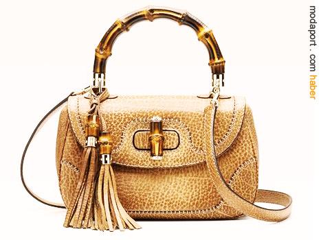 1950'lerde üretilişiyle, ilk uluslararası üne kavuşan çantalardan olan Gucci'nin ikonik bamboo çantası, bu yıl yeni stillerde yeniden üretildi..