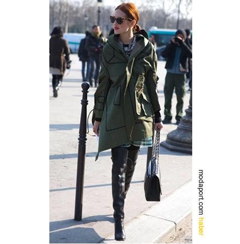 Haki palto ve ceket trendi