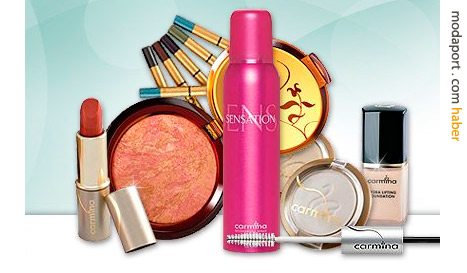 Carmina kozmetik yelpazesinin tümü online