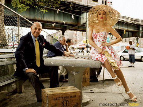 Oscar de la Renta, Jennifer Lopez ile Elle çekimlerinde
