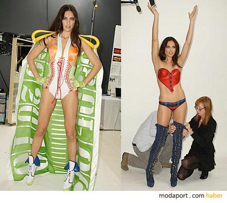 Süpermodel Adriana Lima, Victoria's Secret defilesi için sıfır kalorili diyet ve ağır spor yapmış