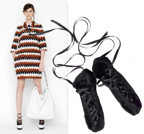 Balerin modeli Marni bağcıklı çorap, kış ayakkabılarına stil katıyor