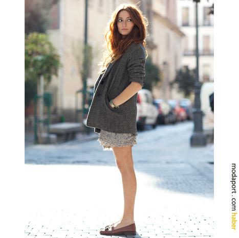Madrid sokak modasından: Yazlık kışlık bir arada