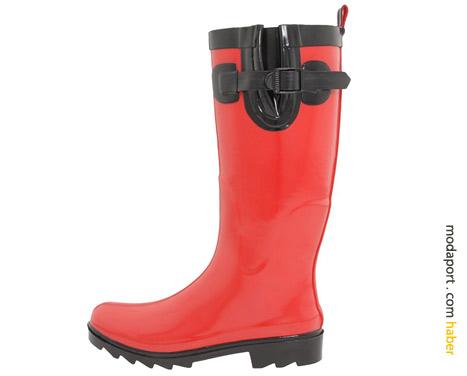 Clarks kırmızı yağmur çizmesi