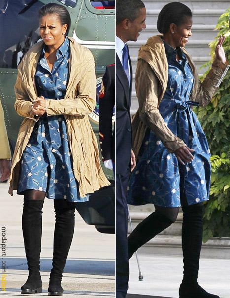 Michelle Obama, Hindistan gezisi için havaalanında