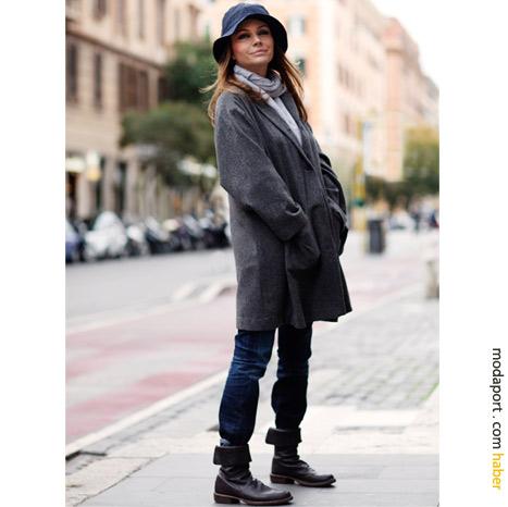 Roma sokak modasından: Şapka ve palto