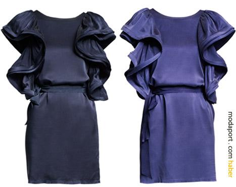 Lacivert ve mavi gece elbiselerinin fiyatı 299 TL