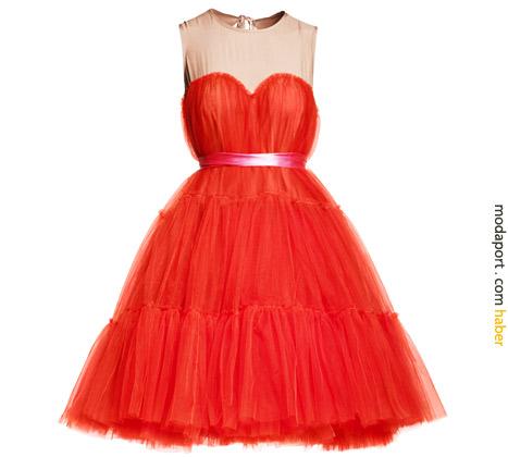 Kırmızı gece elbisesi 399 TL