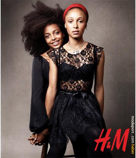 Kız kardeşler. Dantel bluzun fiyatı 39,95 TL. Etek 29,95 TL