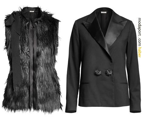 H&M kürk yelek 169 TL. Blazer ceketin fiyatı 199 TL