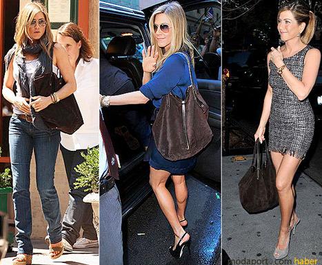 Jennider Aniston'un süet çantası