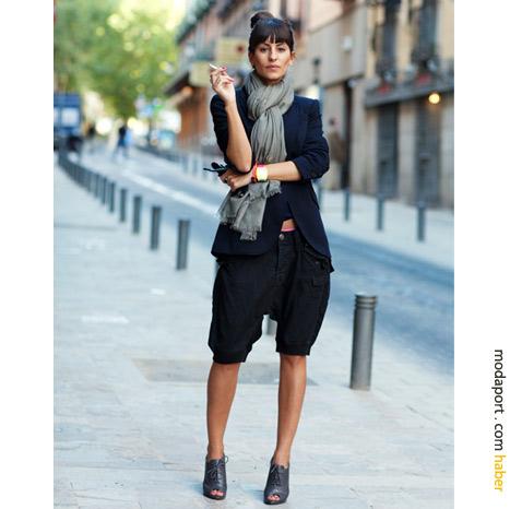Madrid sokak modasından: Şalvar şort, şal ve müthiş ayakkabılar