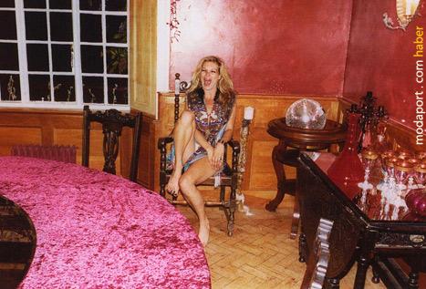 Kate Moss'un kendi evinde çekilen fotoğrafları
