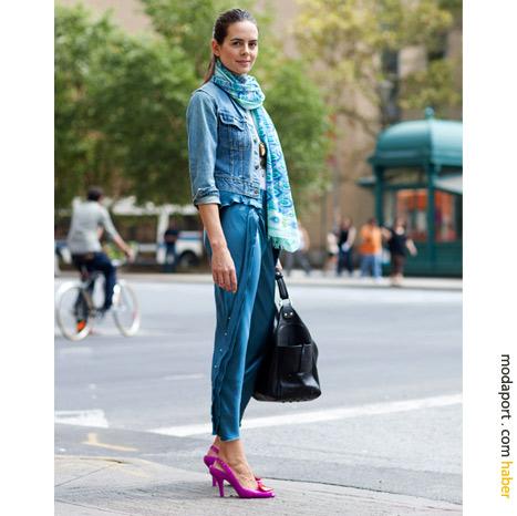 New York Sokak Modasından: Kot mont ve altı..