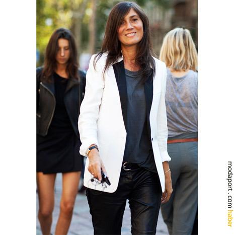 Milan sokak modasından: Ceket trendine beyaz yorum