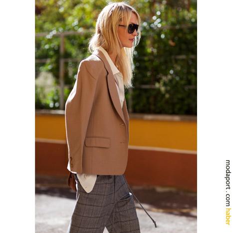 Milan sokak modasından: Camel ceket