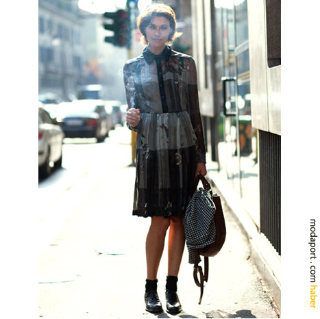 Milano sokak modasından: Elbise ve sigara